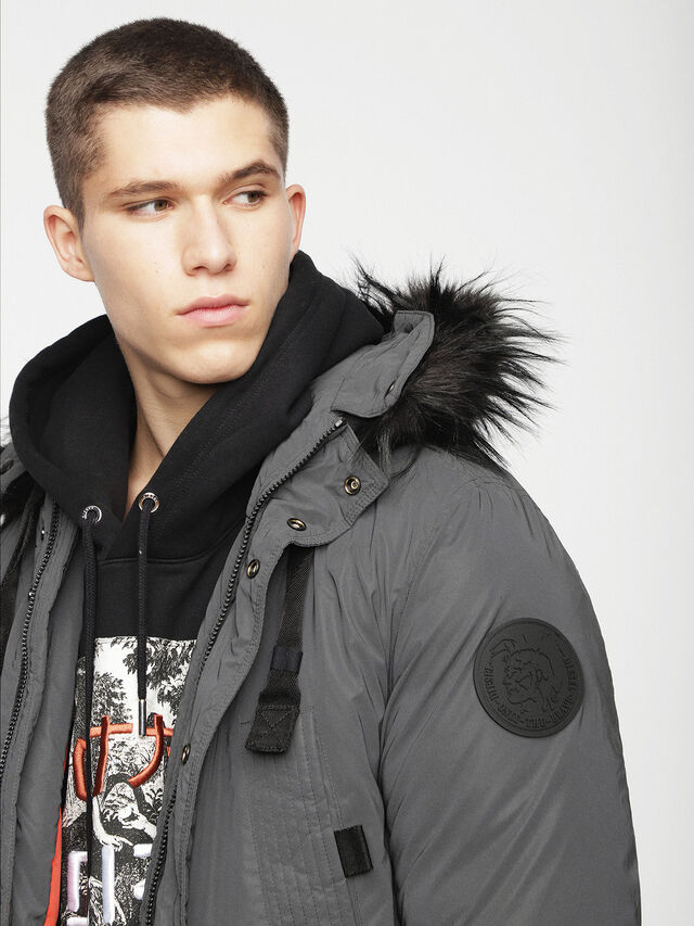 Diesel - W-BULLIONZ, Dark grey - Winter Jackets - Image 5