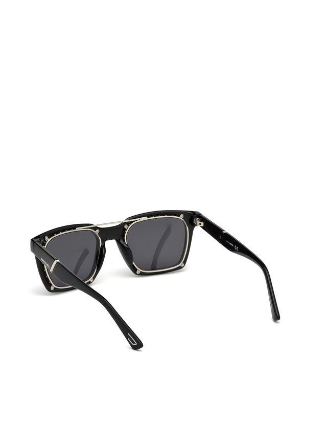 Diesel - DL0250, Bright Black - Sunglasses - Image 3