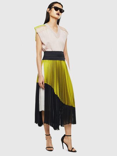 Diesel - O-ESCY, Black/Yellow - Skirts - Image 6