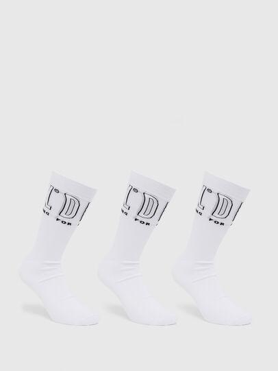 Diesel - SKM-HERMINE-THREEPAC, White - Socks - Image 1