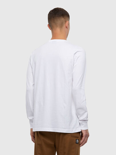 Diesel - T-JUST-LS-X93, White - T-Shirts - Image 2