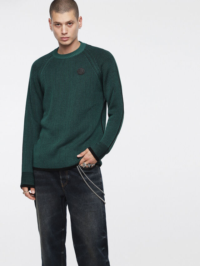 Diesel - K-BLEND, Bottle Green - Knitwear - Image 1