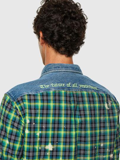 Diesel - S-MOON-CHECK, Green - Shirts - Image 3