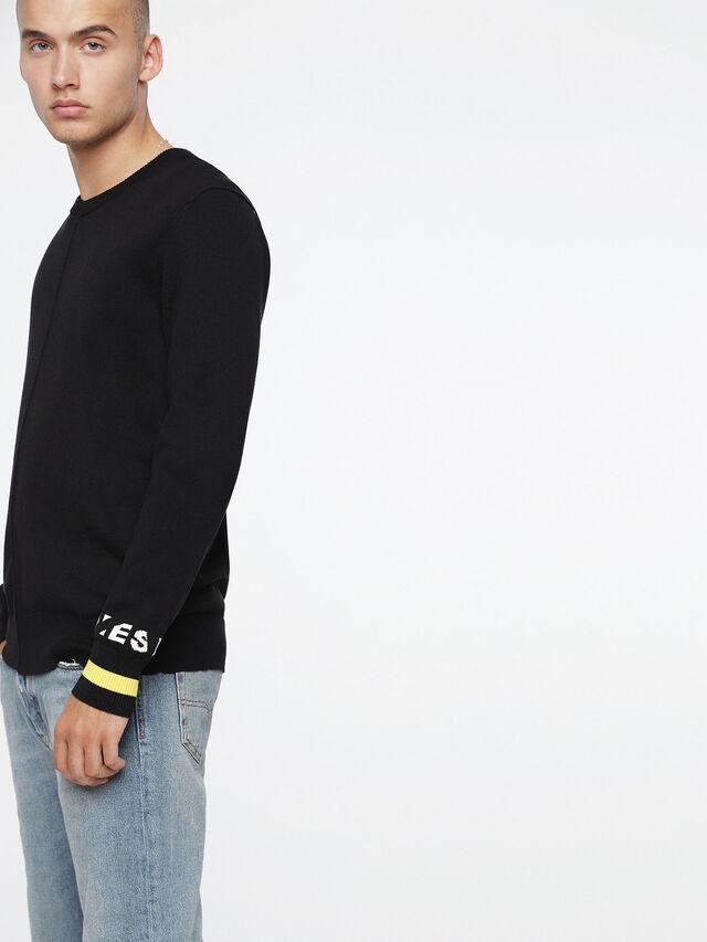 Diesel - K-TOP, Black - Knitwear - Image 3