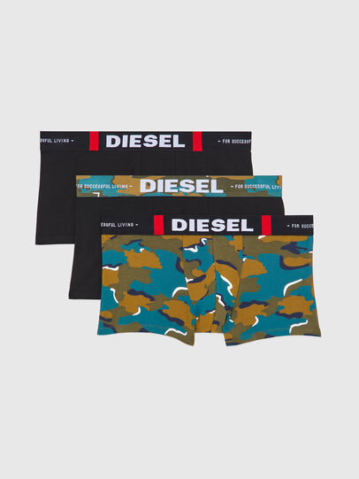Diesel - UMBX-DAMIENTHREEPACK, Black/Green - Trunks - Image 1