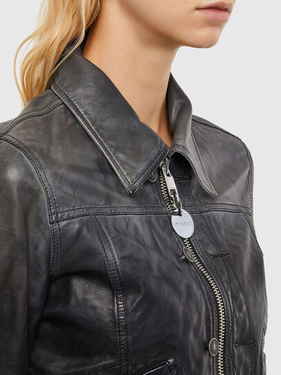 Diesel - L-SHAE, Black - Leather jackets - Image 3