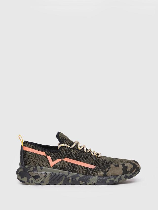 Diesel - S-KBY, Green Camouflage - Sneakers - Image 1