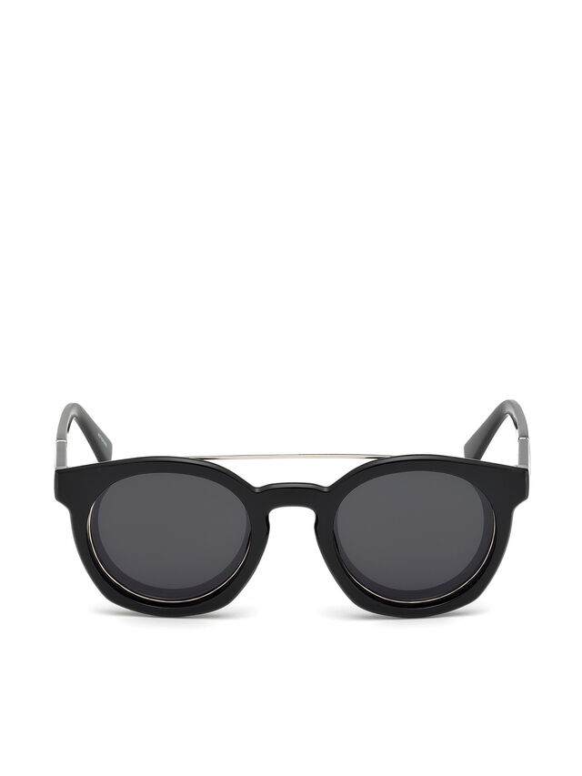 Diesel - DL0251, Bright Black - Eyewear - Image 1
