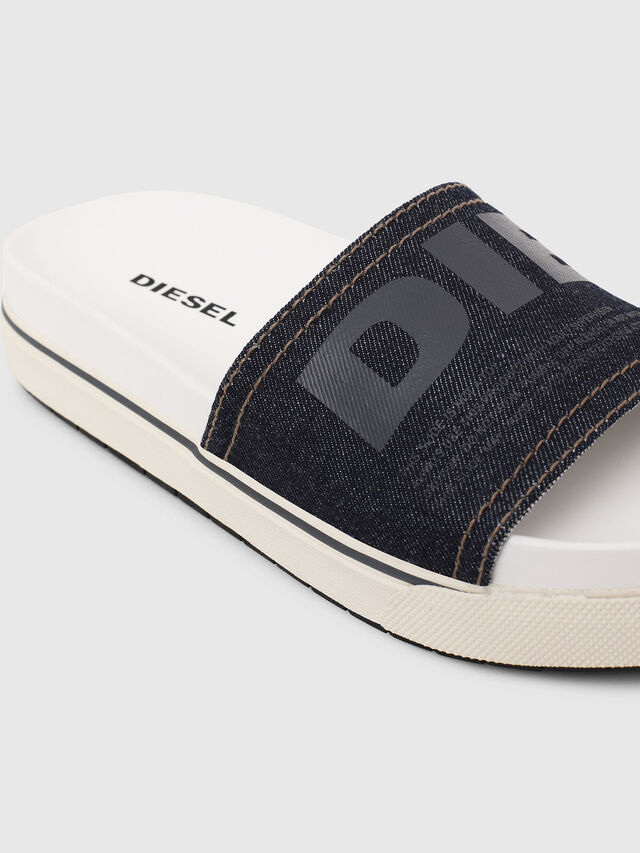 Diesel - SA-GRAND SLIDE W, White/Blue - Sandals - Image 4