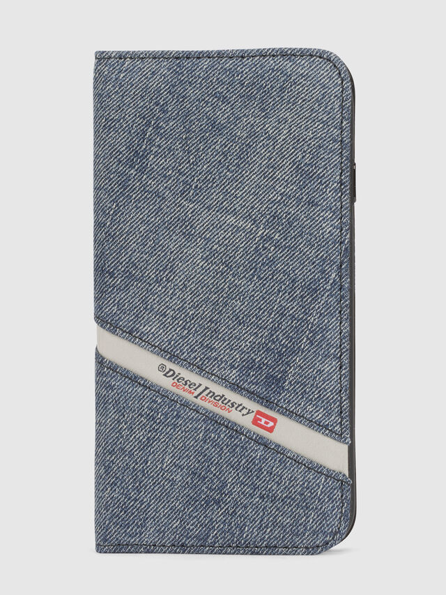Diesel - DENIM IPHONE X FOLIO, Blue Jeans - Flip covers - Image 2