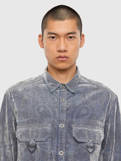 Diesel - D-RONNY, Grey - Denim Shirts - Image 4
