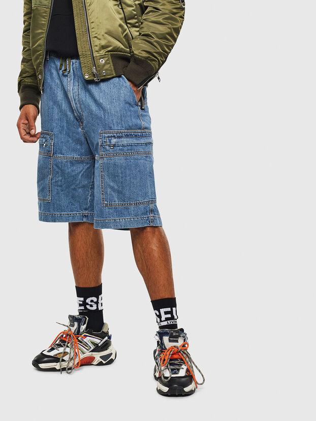 D-LUKS-SHORT, Light Blue - Shorts