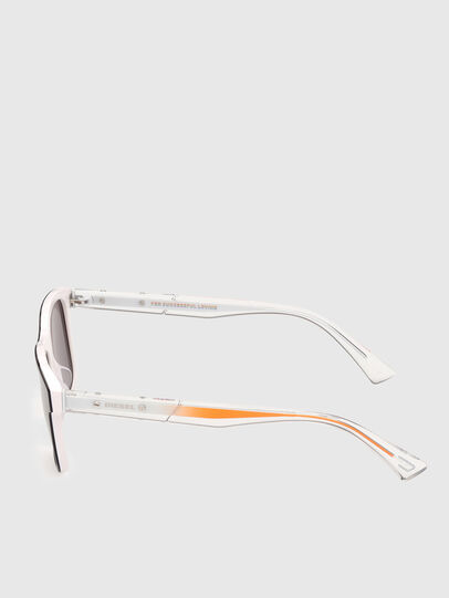 Diesel - DL0279, White/Orange - Sunglasses - Image 3