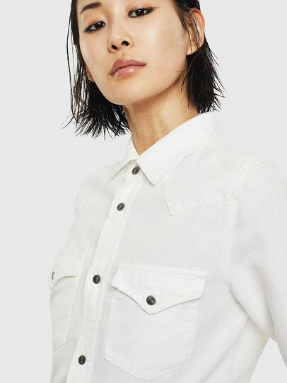 Diesel - DE-RINGY, White - Denim Shirts - Image 4