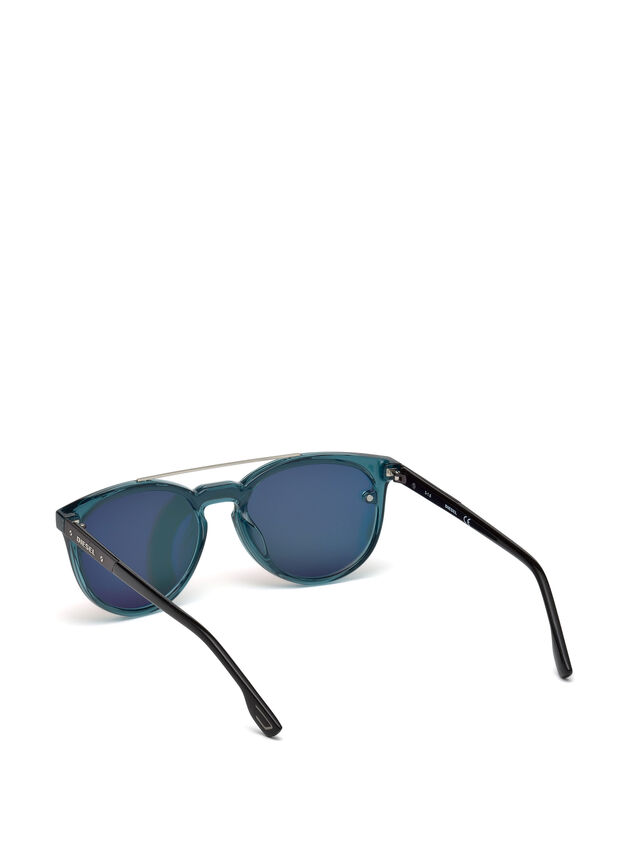 Diesel - DL0216, Blue/Orange - Eyewear - Image 2