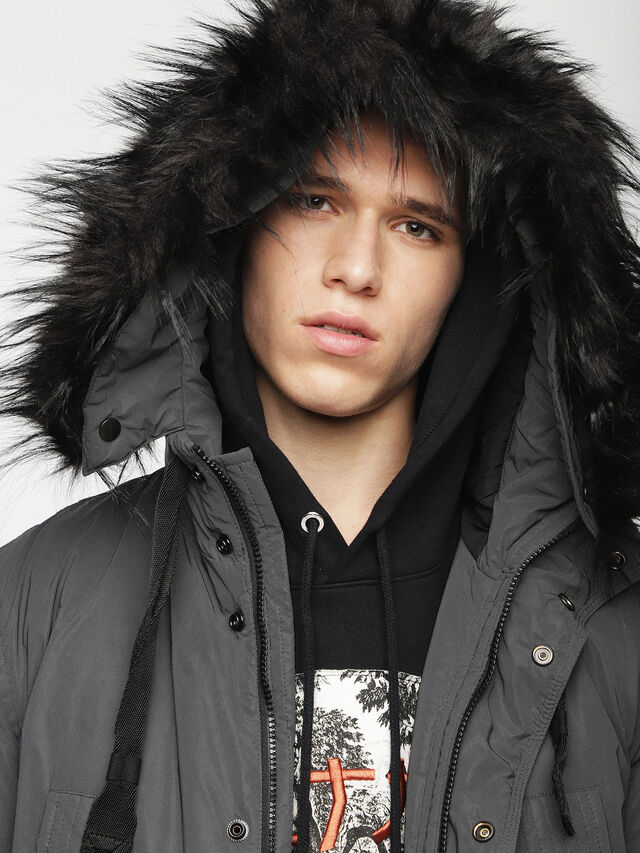 Diesel - W-BULLIONZ, Dark grey - Winter Jackets - Image 4
