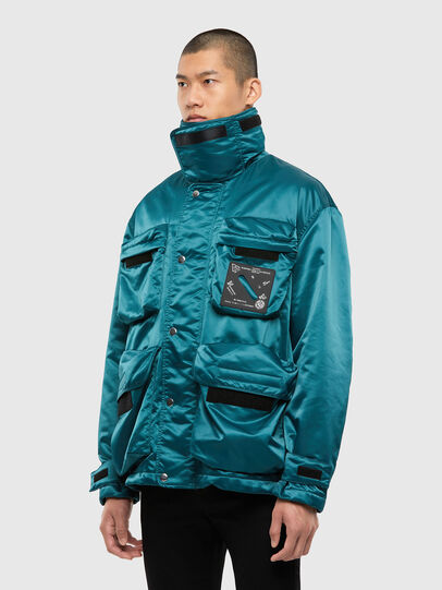 Diesel - J-HARRETT, Water Green - Jackets - Image 4