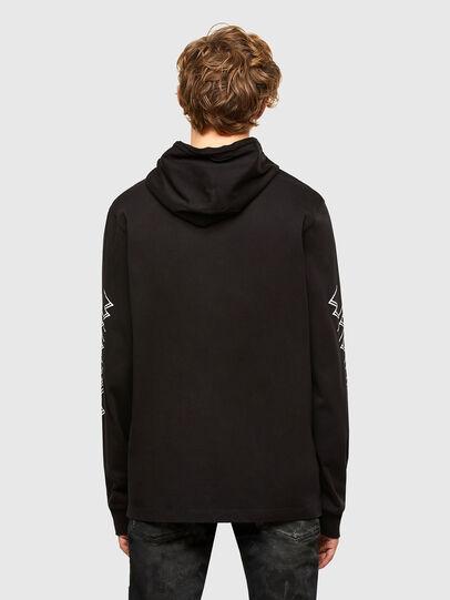 Diesel - T-UST-LS-HOOD, Black - T-Shirts - Image 2