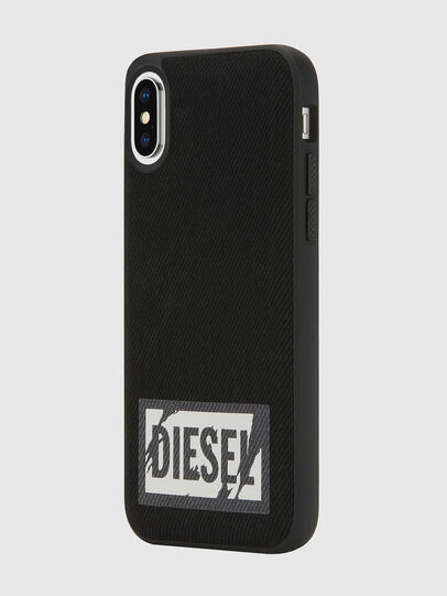 Diesel - BLACK DENIM IPHONE X CASE, Black - Cases - Image 5