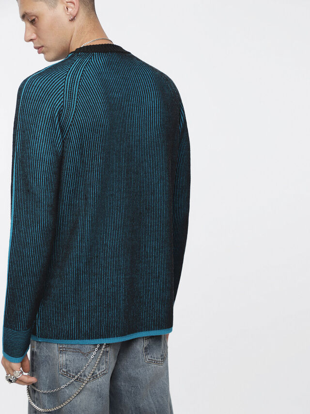 Diesel - K-BLEND, Blue/Black - Knitwear - Image 2