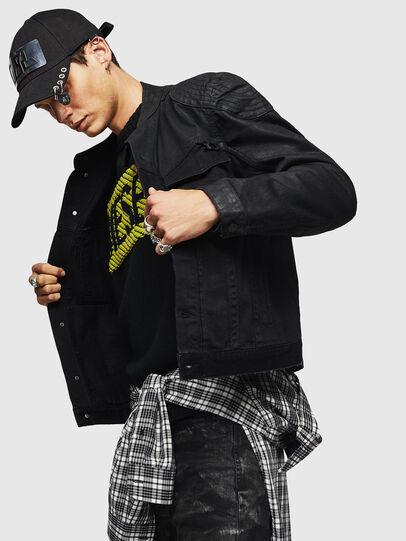 Diesel - D-DANY, Black/Dark grey - Denim Jackets - Image 6