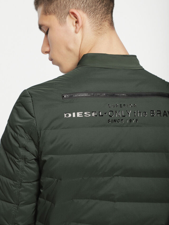 Diesel - W-HANKS, Dark Green - Winter Jackets - Image 4