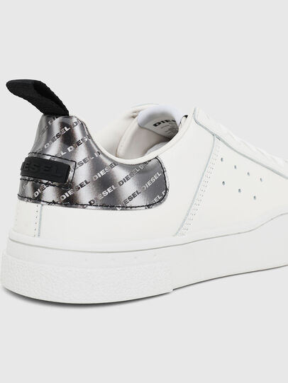 Diesel - S-CLEVER LOW W, White/Silver - Sneakers - Image 4