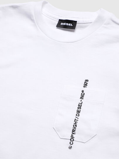 Diesel - TJUSTPOCKETCOPY, White - T-shirts and Tops - Image 3