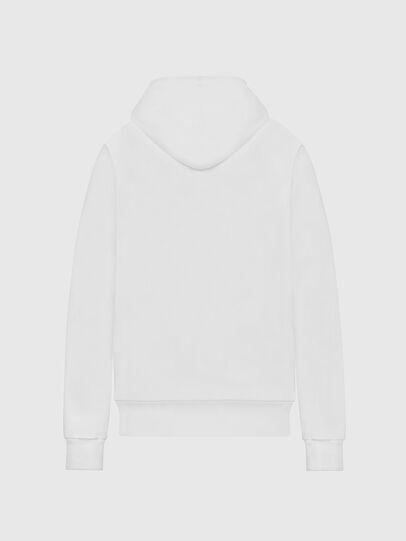 Diesel - F-ANG-HOOD-LOGO, White - Sweaters - Image 2