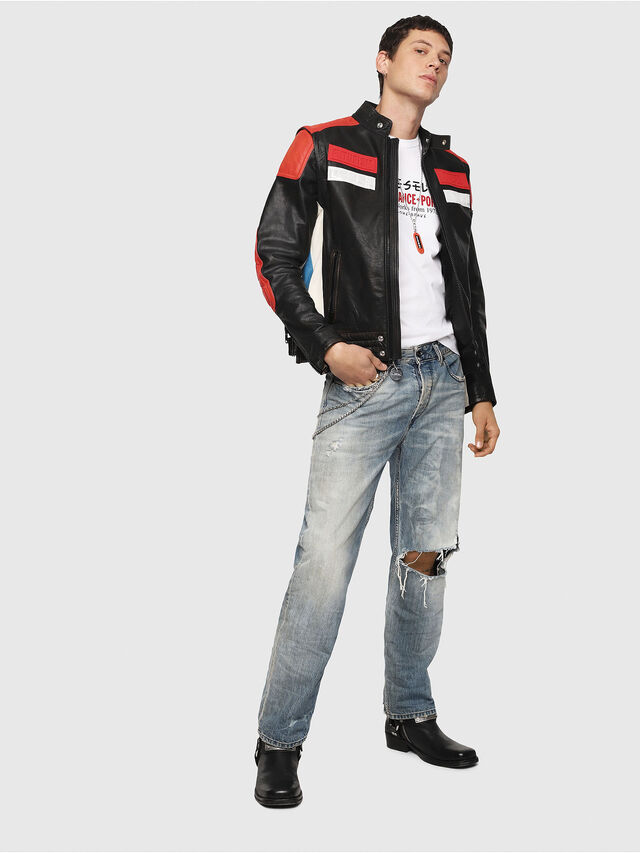 Diesel - L-YUJA, Black/Red - Leather jackets - Image 6
