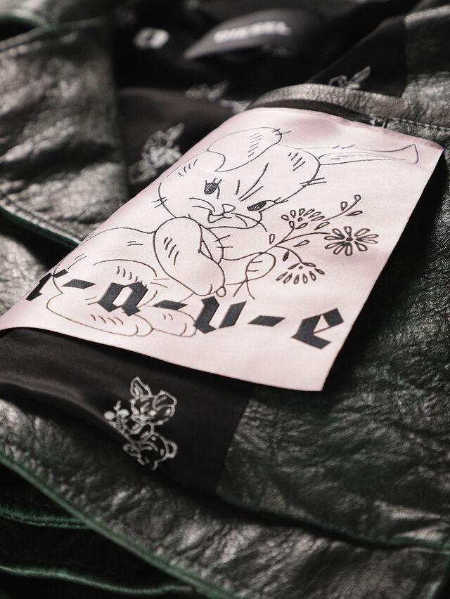 Diesel - L-JUPOR, Dark Green - Leather jackets - Image 5