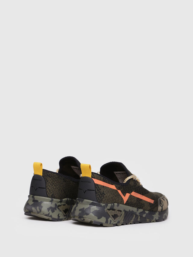 Diesel - S-KBY, Green Camouflage - Sneakers - Image 3