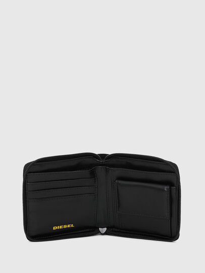 Diesel - ZIPPY HIRESH S, Black/Yellow - Zip-Round Wallets - Image 3