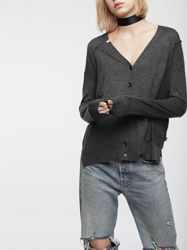 Diesel - M-STILES, Dark grey - Knitwear - Image 1