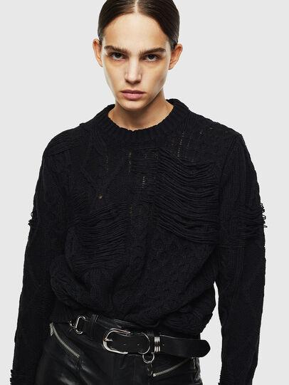 Diesel - K-BRIGLY, Black - Knitwear - Image 6