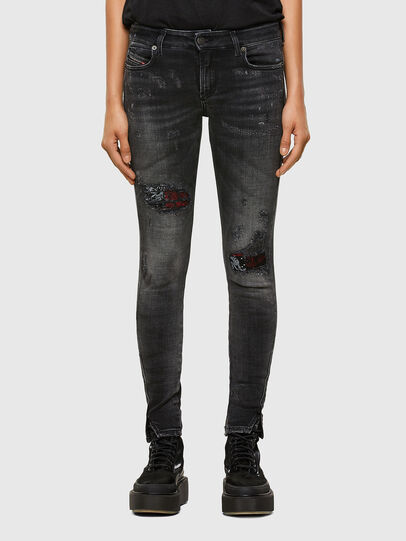 Diesel - D-Jevel 009JN, Black/Dark grey - Jeans - Image 1
