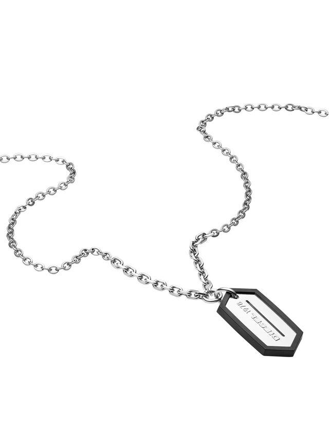 Diesel - NECKLACE DX0996, Silver - Necklaces - Image 2