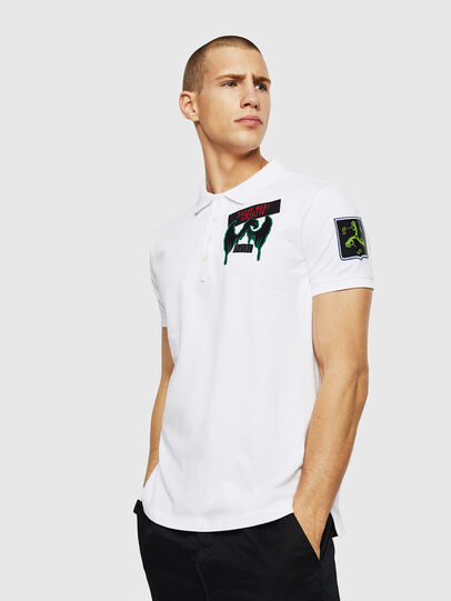 Diesel - T-POLO-PATCHES, White - Polos - Image 4