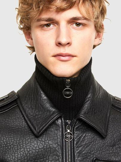 Diesel - L-FRED, Black - Leather jackets - Image 4