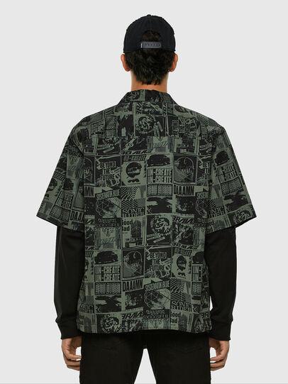 Diesel - S-ROHAD-B, Black/Green - Shirts - Image 5