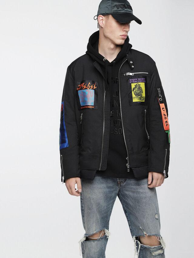 Diesel - J-YONG, Black - Jackets - Image 1