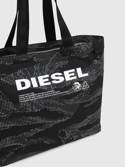 Diesel - D-THISBAG SHOP M, Black - Shopping and Shoulder Bags - Image 4