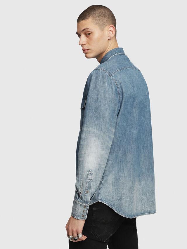 Diesel - D-ROOKE-Y, Blue Jeans - Denim Shirts - Image 2
