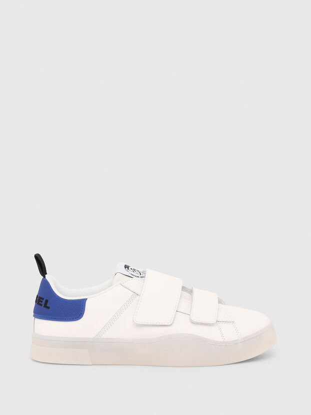 S-CLEVER LOW STRAP, White/Blue - Sneakers