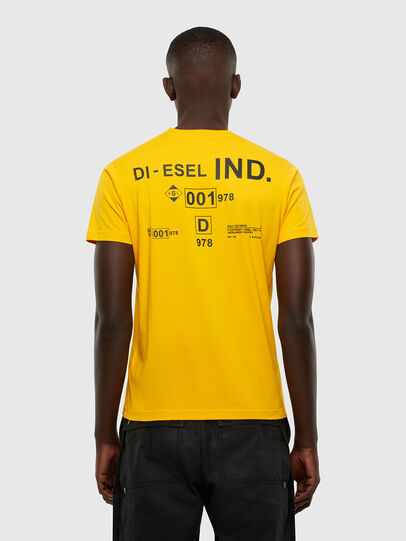 Diesel - T-DIEGOS-N21, Yellow - T-Shirts - Image 2