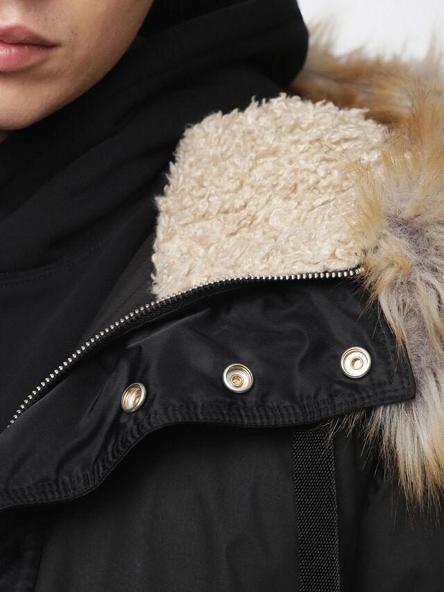 Diesel - W-BURKE, Black - Winter Jackets - Image 5
