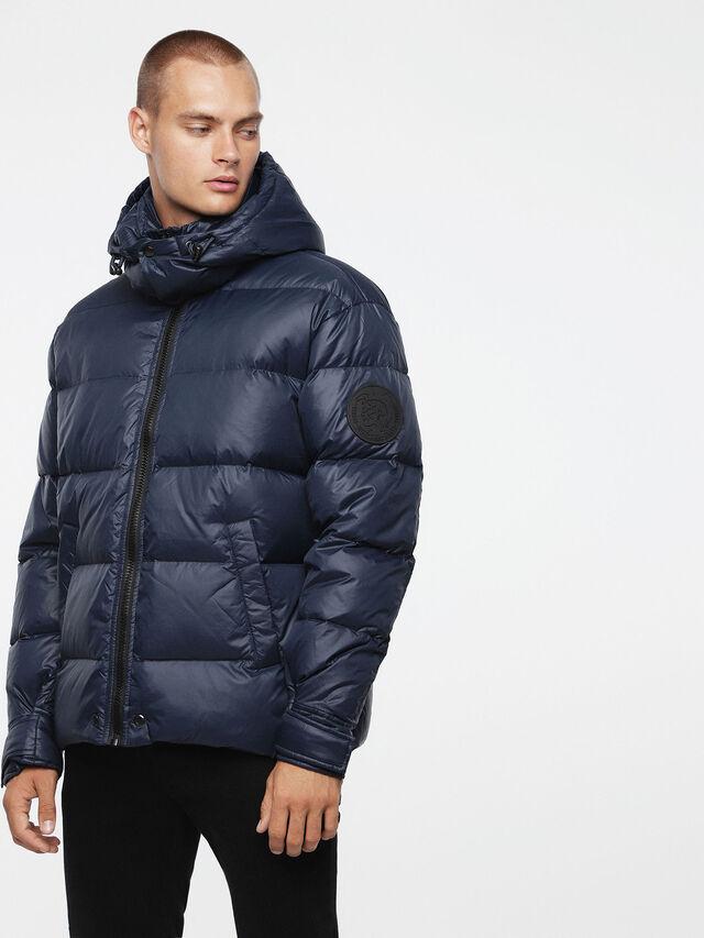 Diesel - W-SMITH-A, Blue - Winter Jackets - Image 1