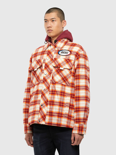 Diesel - J-TANIFER, Red/White - Jackets - Image 7