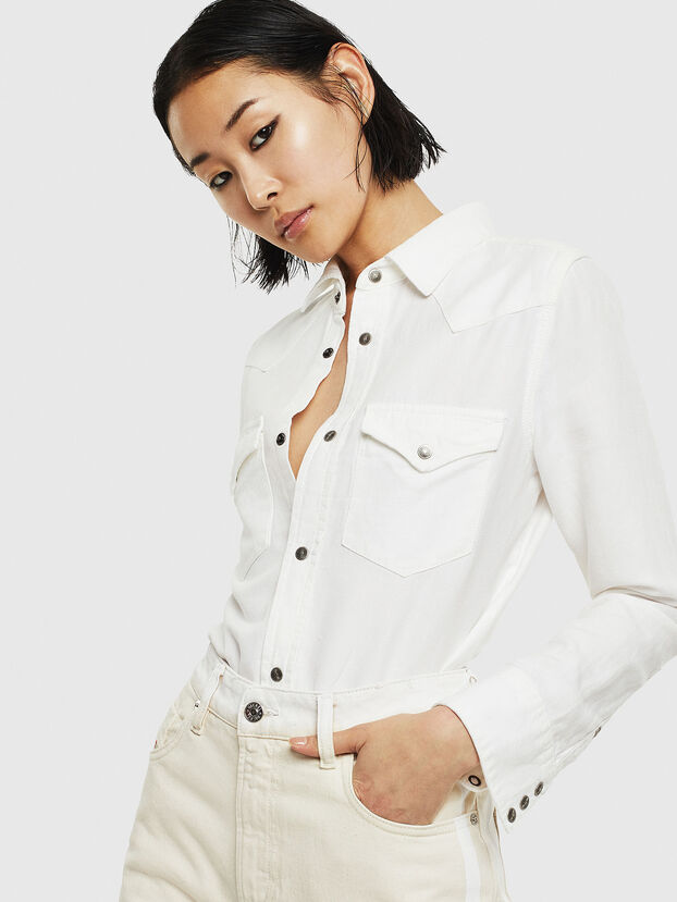 DE-RINGY, White - Denim Shirts