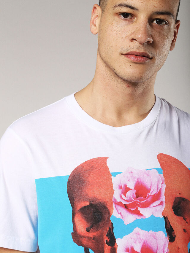 Diesel - T-JUST-SW, White - T-Shirts - Image 5